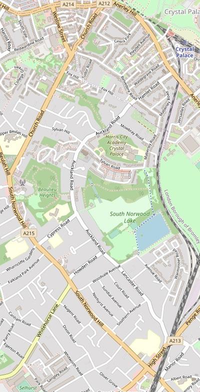 OpenStreetMap standard map of CP-LTN
