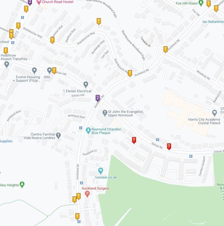 Crashmap Auckland Road (north) 2015-2019
